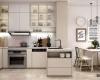 Không gian sang trọng thoáng cho phòng bếp