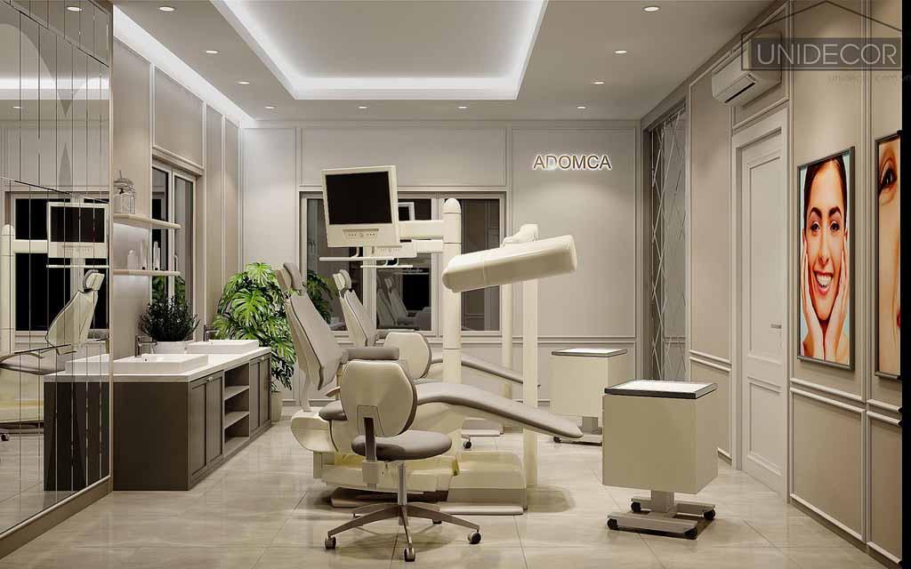 Thiết kế nội thất phòng khám nha khoa tại Tân Bình