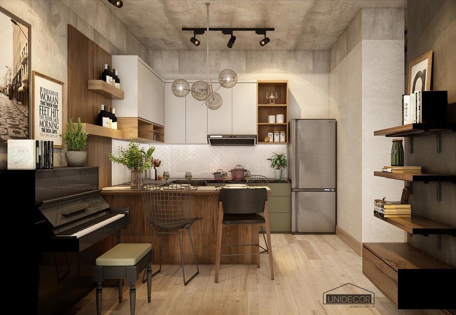 Không gian phòng bếp căn hộ Orchard Parkview