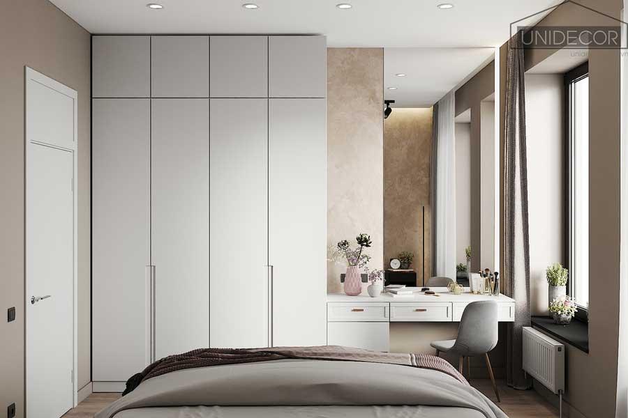Tủ đồ thiết kế tối ưu diện tích, tận dụng không gian phía trên