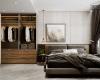 Thiết kế phòng ngủ vợ chồng với tủ đồ đẹp