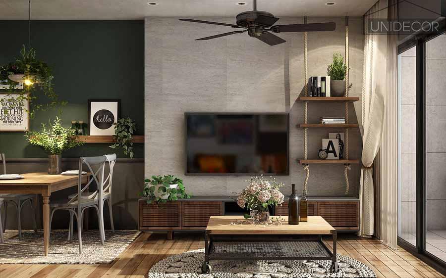 Decor phòng khách theo phong cách hiện đại