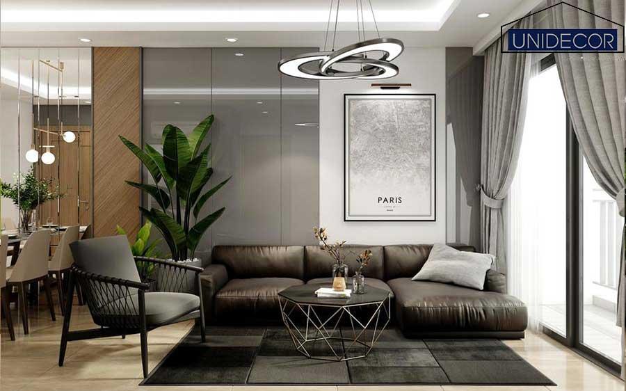 Phòng khách thiết kế theo phong cách sang trọng tại Đà Lạt