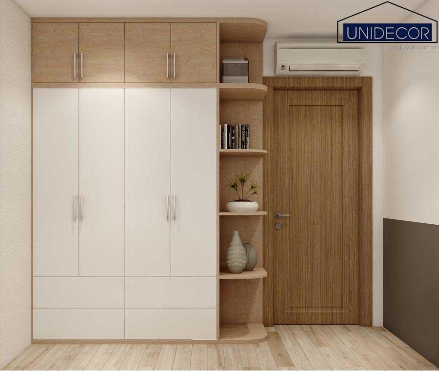 Tủ quần áo cho căn hộ được thiết kế gọn gàng