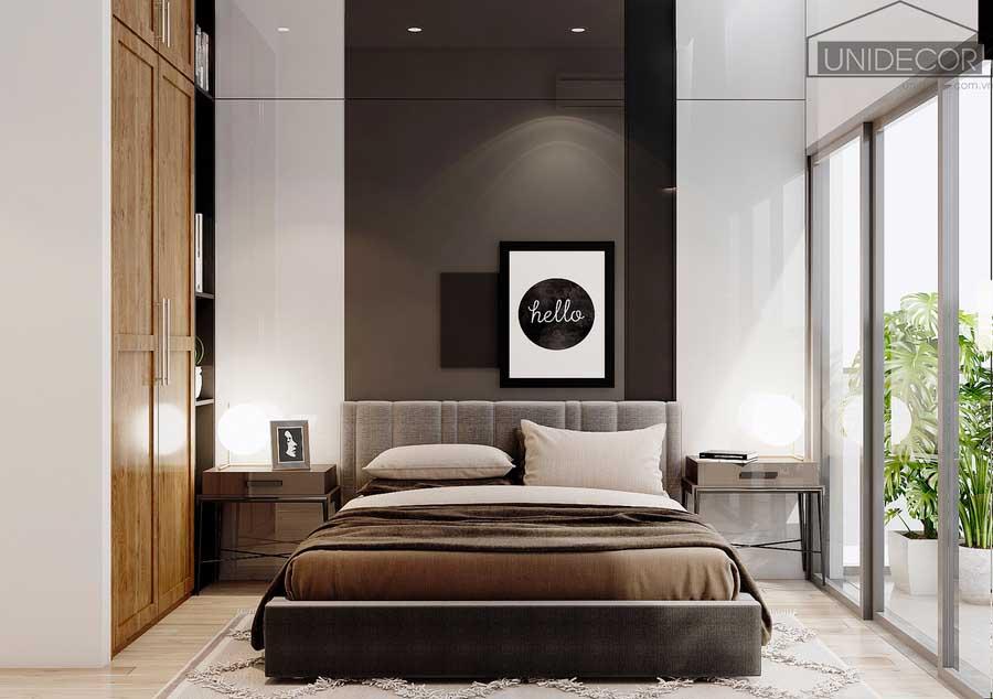 Phòng ngủ hai vợ chồng kết hợp ánh sáng phong thủy tự nhiên