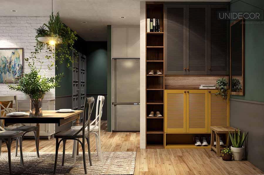 Một góc nội thất của phòng bếp