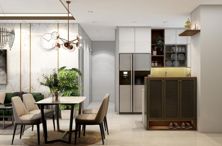Phòng bếp nội thất nhà phố đẹp Vũng Tàu