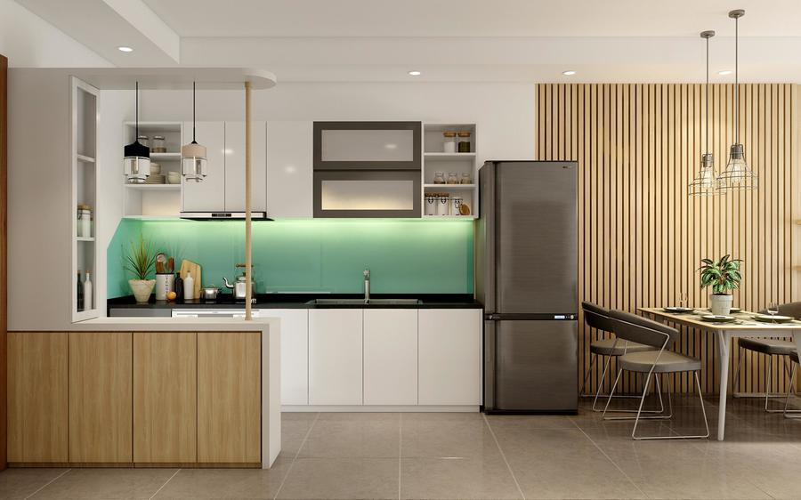 Thiết kế nội thất phòng bếp đủ tiện nghi