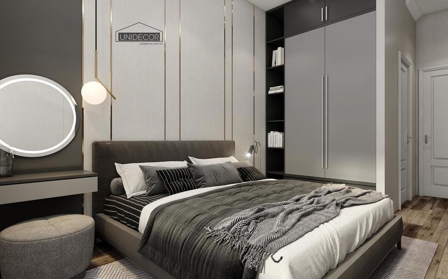 Góc thiết kế khác của phòng ngủ nhà phố