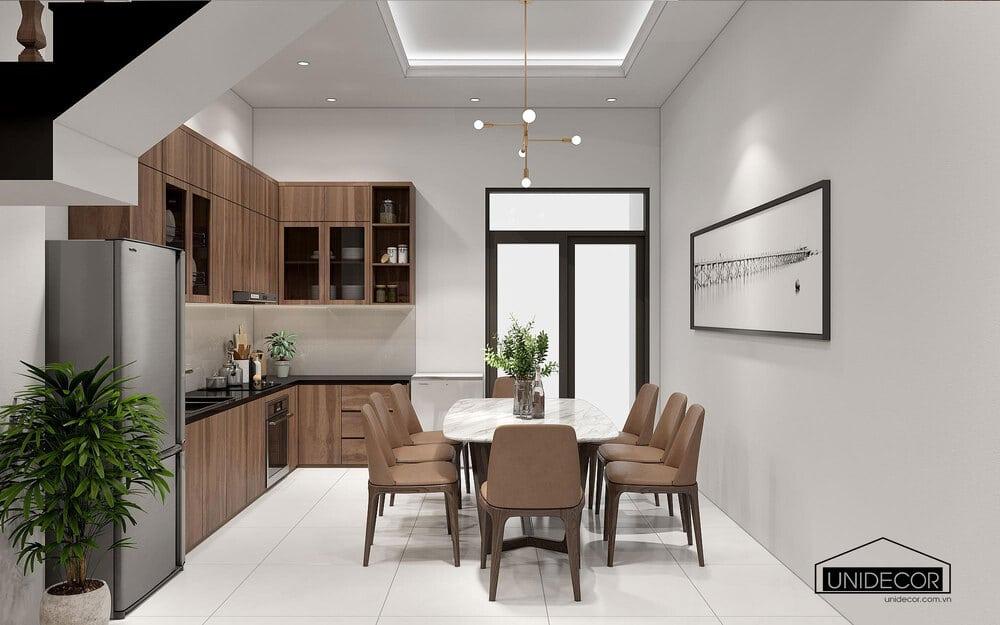 Bố trí nội thất đủ tiện nghi cho phòng bếp