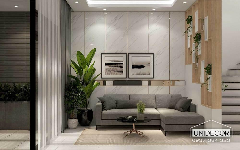 Nội thất phòng khách kèm bộ ghế sofa hiện đại