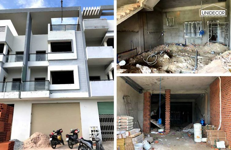 Hoàn thiện nhà phố 4 tầng khu dự án Đồng mắt mèo