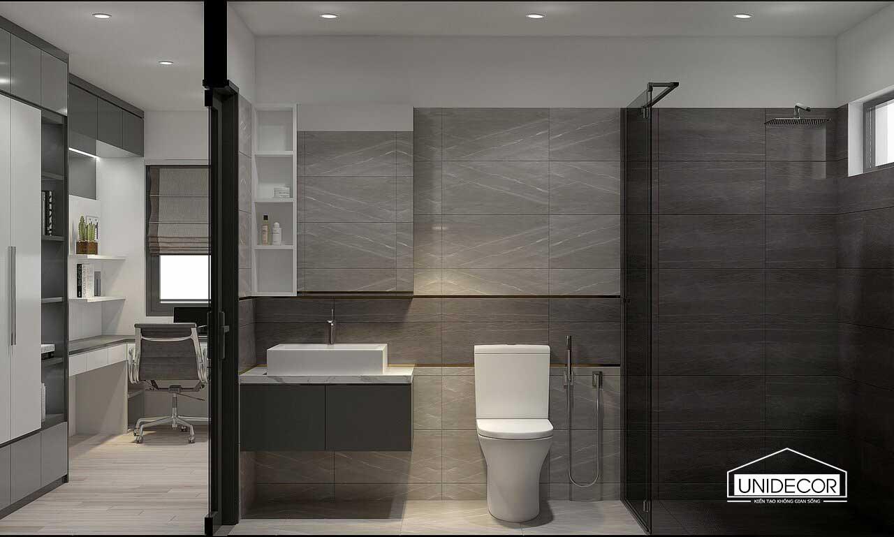 Toilet với nội thất sang trọng hiện đại