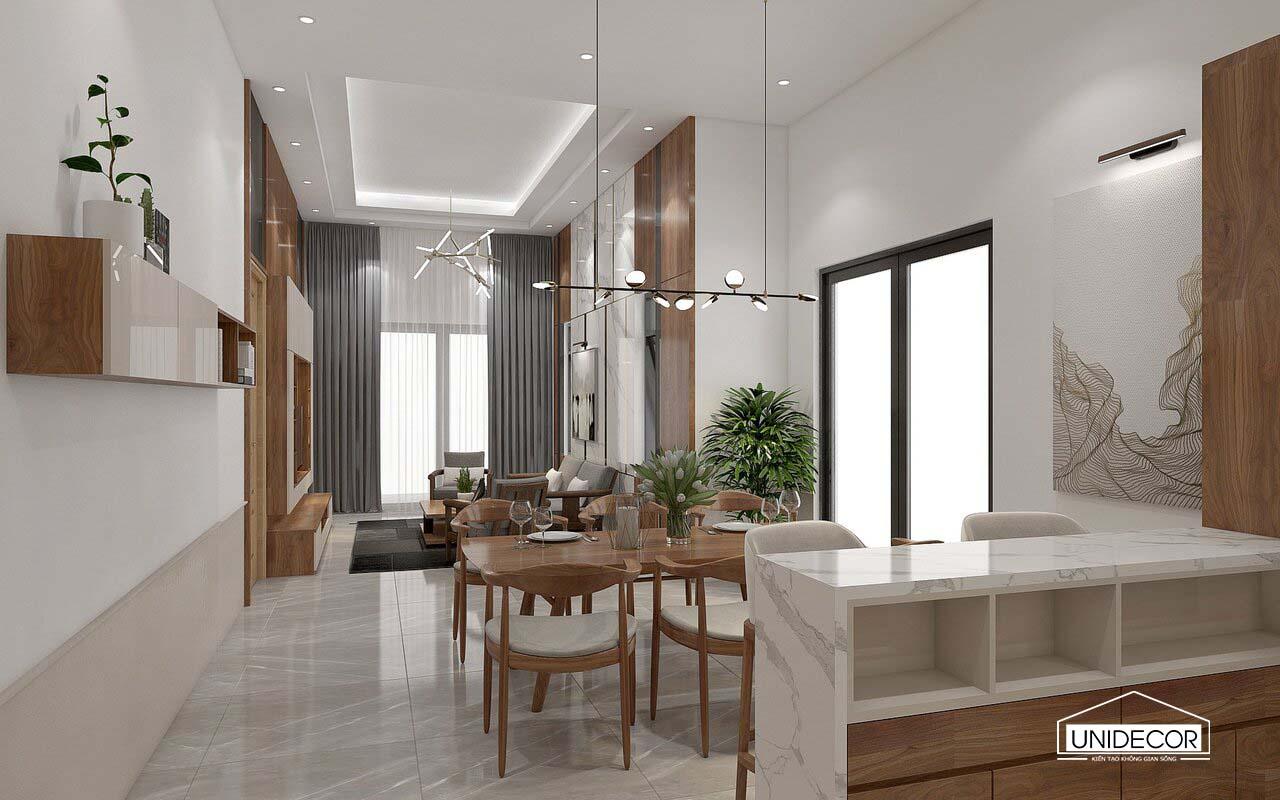 Không gian bếp thoáng đãng và rộng rãi