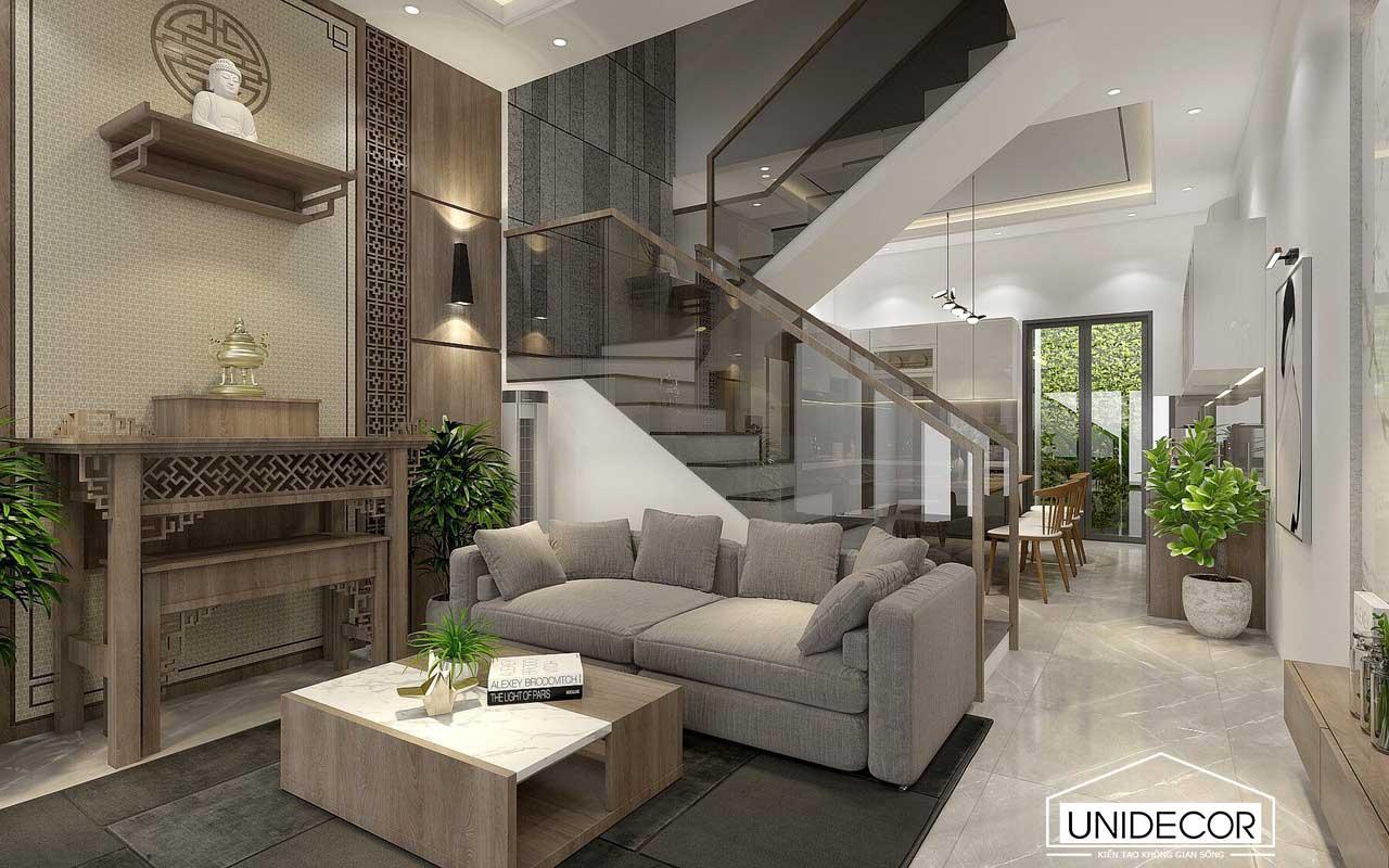 Bố trí nội thất phòng khách với không gian hẹp