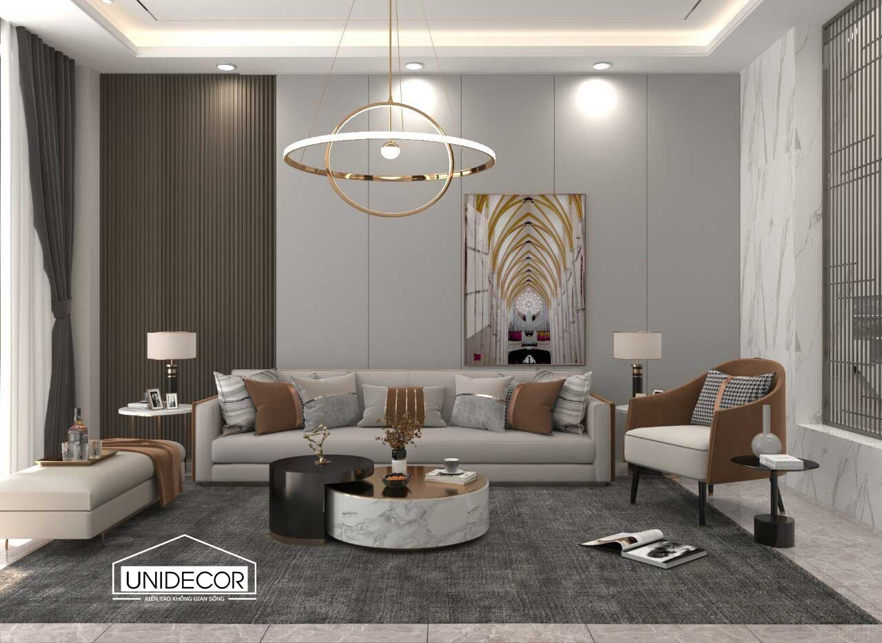 Bộ sofa phòng khách giúp tăng thêm phần sang trọng của ngôi nhà