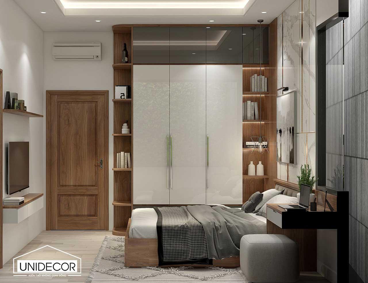 Thiết kế phòng ngủ nhà chị Hoàng