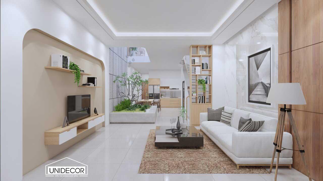Sử dụng gam màu trắng sáng giúp ngôi nhà thêm phần sang trọng hơn