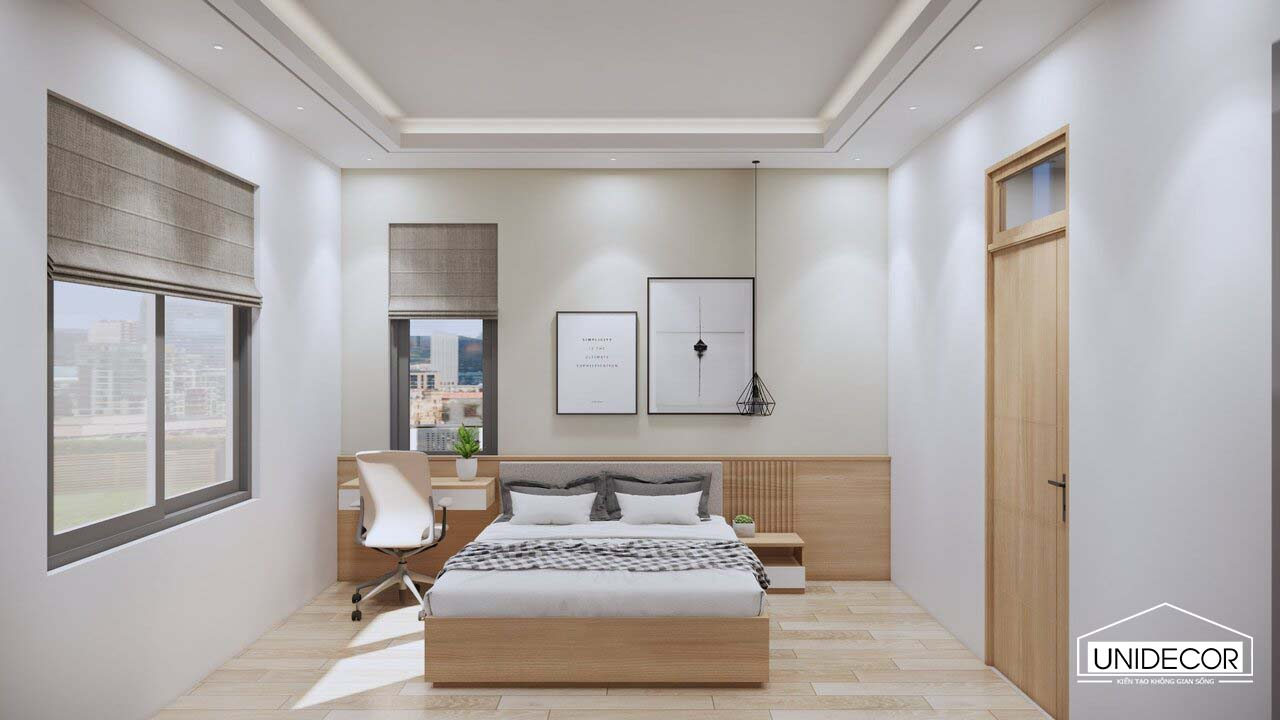 Phòng ngủ đơn giản giúp tối ưu diện tích