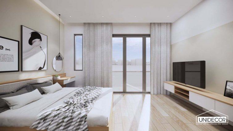 Phòng ngủ view sáng tự nhiên