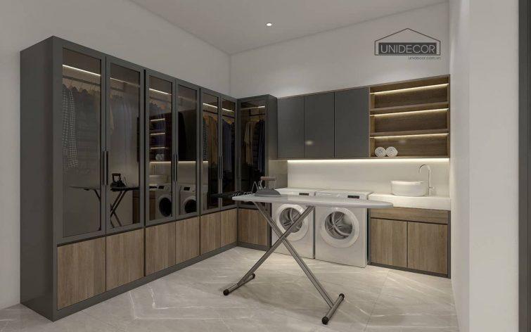 Thiết kế phòng giặt sấy đồ cho gia đình