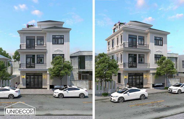 Thiết kế nhà kiến trúc phố phong cách tân cổ điển