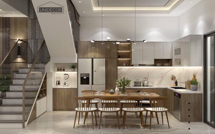 Khu vực bếp thiết kế đủ tiện nghi