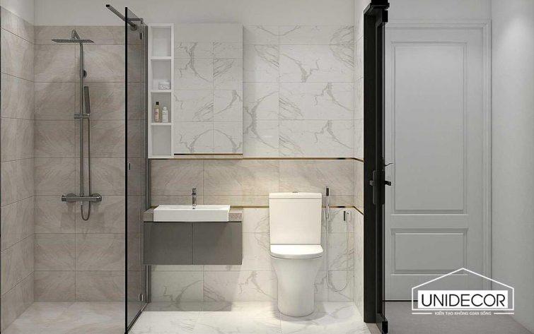 Thiết kế toilet nhà phố bà rịa