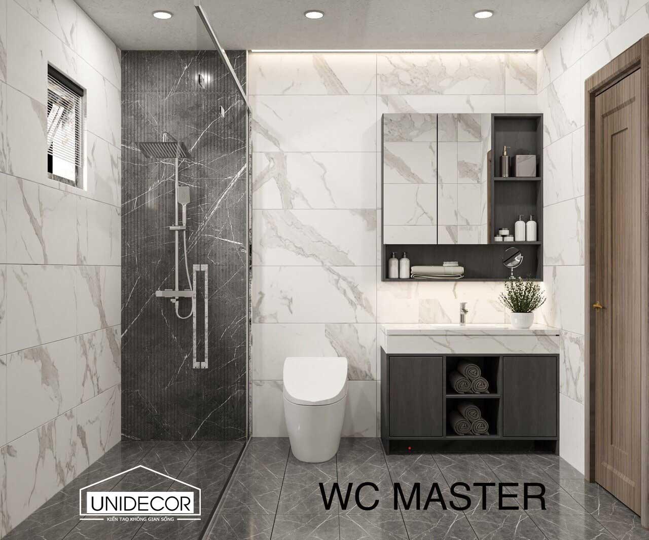 Toilet phòng master nhà chú chanh