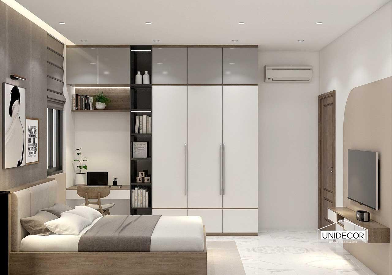 Hệ tủ gỗ công nghệ cho phòng ngủ con gái