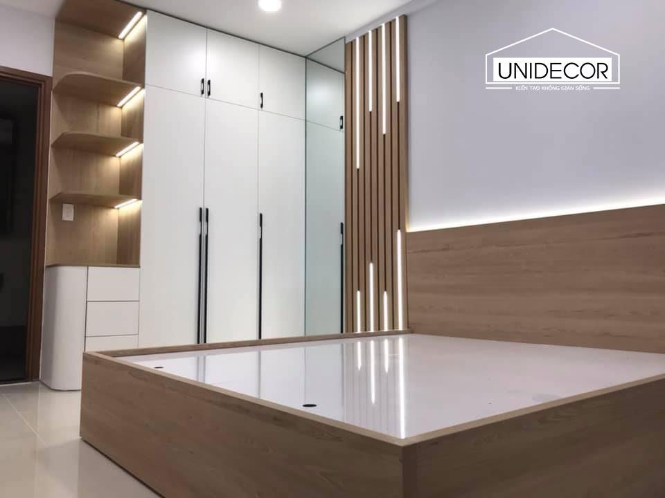 Nội thât phòng ngủ được thi công sang trọng sử dụng gỗ công nghiệp An Cường cao cấp