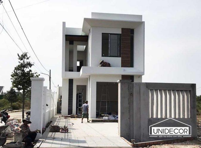 Xây dựng phần hoàn thiện nhà 2 tầng 3 phòng ngủ cho cặp vợ chồng trẻ tại Bà Rịa