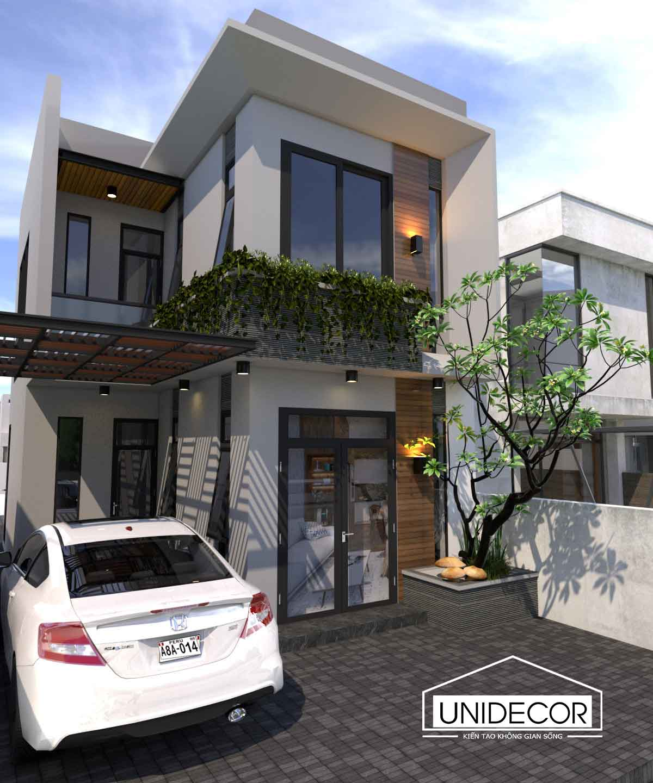 Thiết kế nhà 2 tầng 2 mặt tiền tại Hòa Long, Tp Bà Rịa