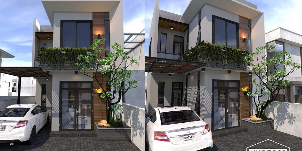 Thiết kế nhà phố 2 tầng tại Hòa Long, Tp Bà Rịa